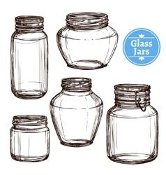 Glass Jars Set vector image vector image