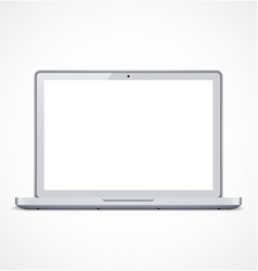 Laptop with white screen vector image vector image