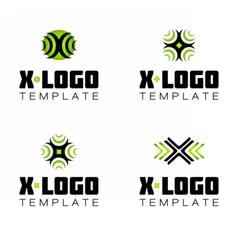 Letter X logo symbol template vector image