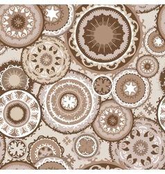 Morocco Pattern in Coffee Colors vector image vector image