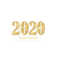 2020 happy new year background with golden glitter vector image