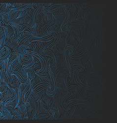 abstract curly background vector image