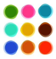 abstract shapes set colorful circle objects vector image