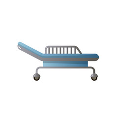 Adjustable modern hospital bed with orthopedic vector