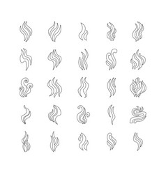 aromas vaporize icons set isolated vector image