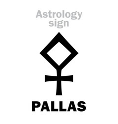 astrology asteroid pallas vector image
