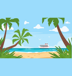 background of sea shore vector image