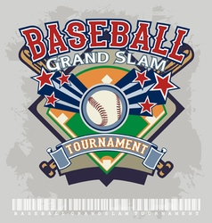 baseball grandslam tournament vector image