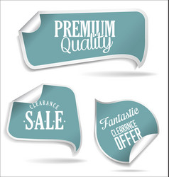 blue tags collection vector image