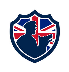 British police canine team crest icon vector
