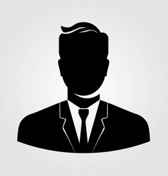 businessman icon isolated on white background vector image