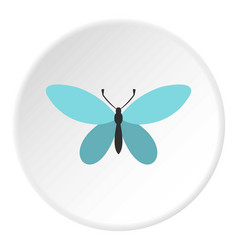 Butterfly with antennae icon circle vector