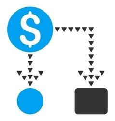 Cashflow Scheme Flat Symbol vector image