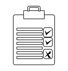 check list with icons graphic vector image