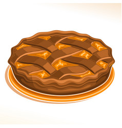 Chocolate pie vector