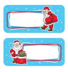 christmas labels with santa claus vector image vector image
