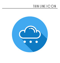 cloud sky rain line simple icon weather vector image
