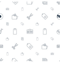 Copy icons pattern seamless white background vector