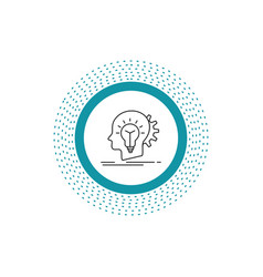 creative creativity head idea thinking line icon vector image