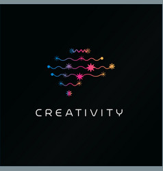 creativity thinking human brain abstract symbol vector image