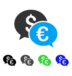 Currency transactions flat icon vector