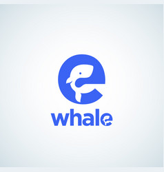 cute little whale silhouette incorporated vector image
