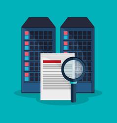 Data center search file developer system vector