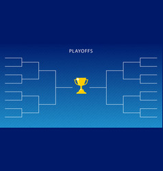Decoration of playoffs schedule template on blue vector