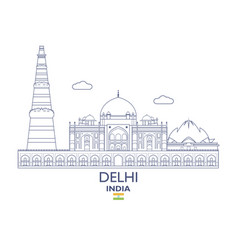 Delhi city skyline vector