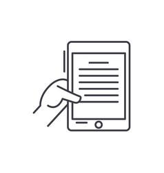 ebook line icon concept ebook linear vector image