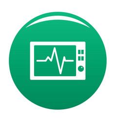 Ekg icon green vector