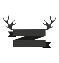 emblem with horns isolated icon design vector image