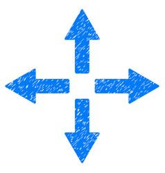 Expand arrows grunge icon vector