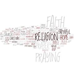 faithful word cloud concept vector image
