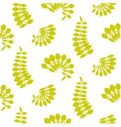 Fern green leaves seamless pattern vector