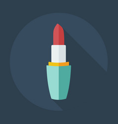 Flat modern design with shadow icons lipstick vector
