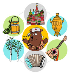 Flat russian traditions concept vector