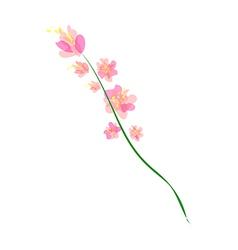 Flowers a piece vector