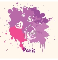 French Emotive Motive with romantic present vector