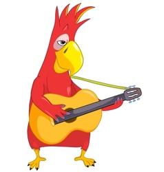 Funny Parrot Guitarist vector image