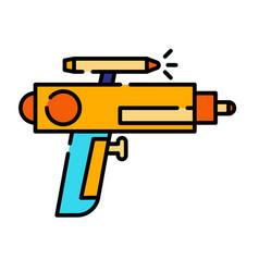 Gun linecolor vector