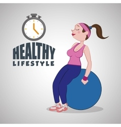 Healthy lifestyle design Bodycare icon Isolated vector image