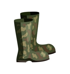 Hunting rubber boots icon cartoon style vector