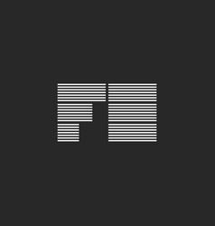 Initials combination fe or ef monogram logo vector