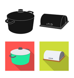 Isolated object of kitchen and cook symbol vector