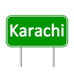 Karachi road sign vector