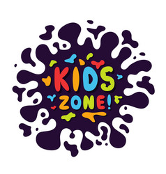 Kids zone background with colorful and playful vector
