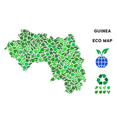leaf green mosaic african guinea map vector image