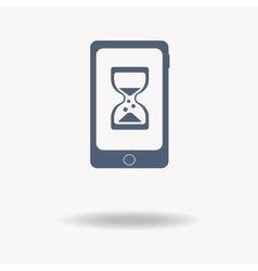 loading concept loading logo Phone Hourglass vector image