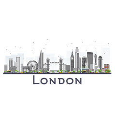 London skyline with gray buildings isolated on vector